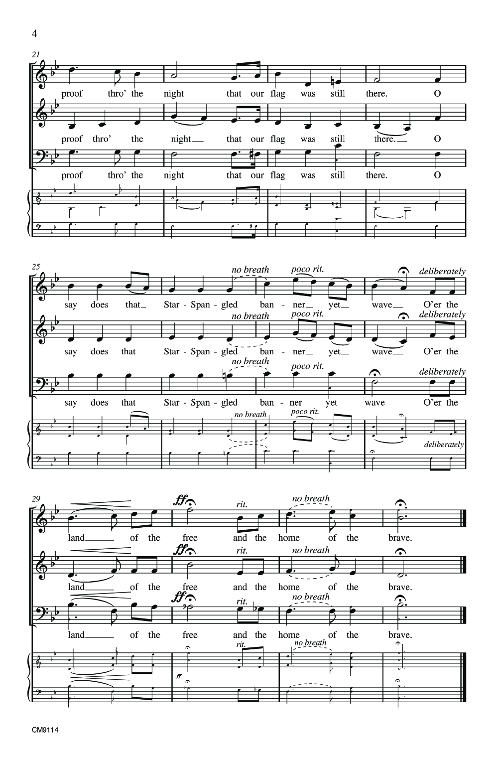 The Star Spangled Banner Three Part Mixed J W Pepper Sheet Music