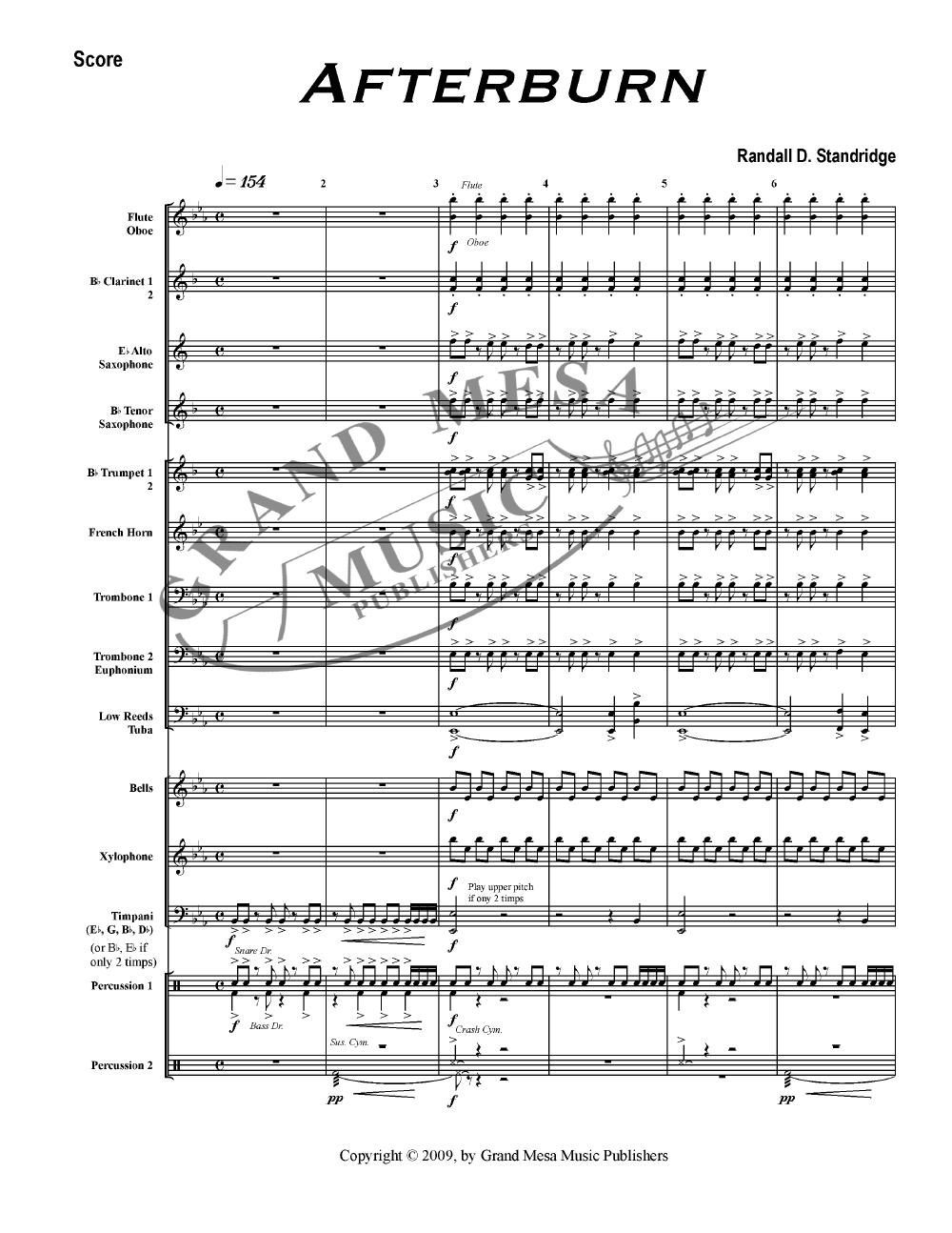 Afterburn by Randall D  Standridge| J W  Pepper Sheet Music