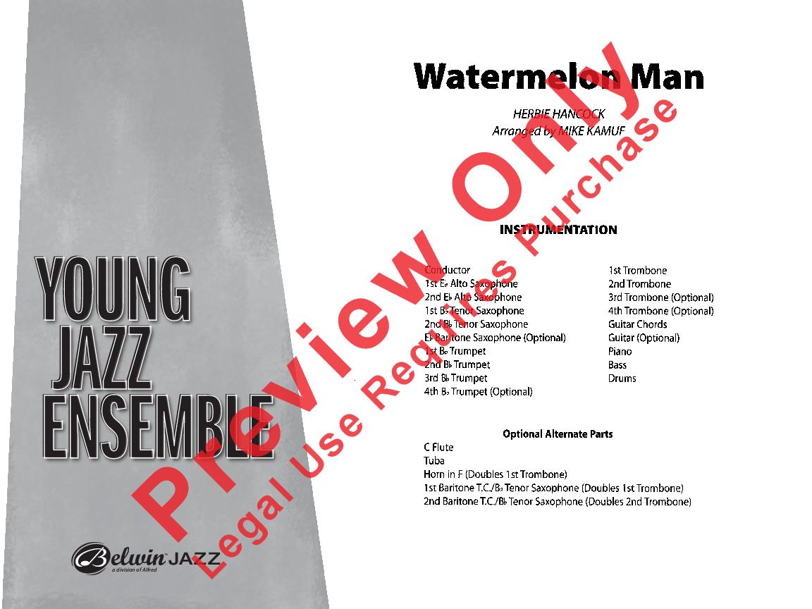 Watermelon Man by Herbie Hancock/arr  Mike Kamuf| J W  Pepper