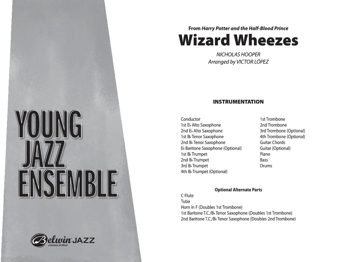 Wizard Wheezes By Nicholas Hooper Arr Victor Lop J W Pepper Sheet Music
