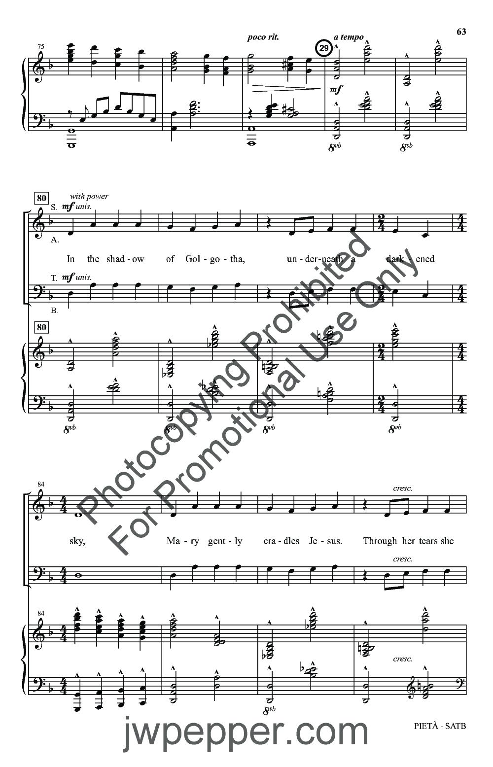 The Lenten Sketches (SATB Choral Score | J W  Pepper Sheet Music