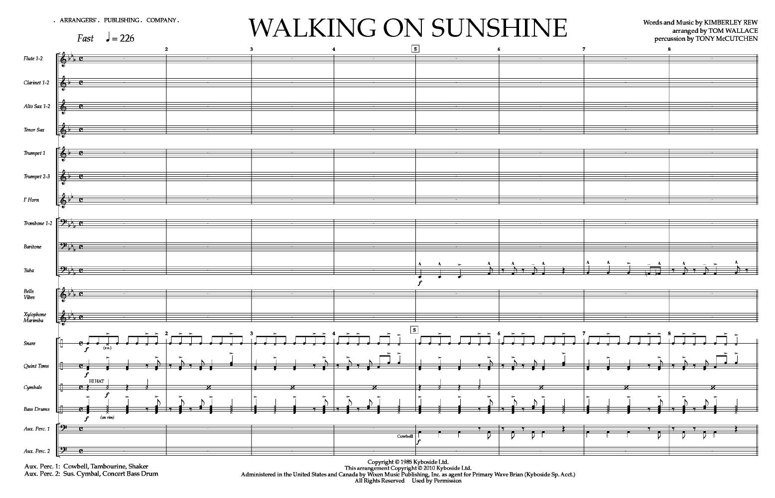Walking on Sunshine Thumbnail