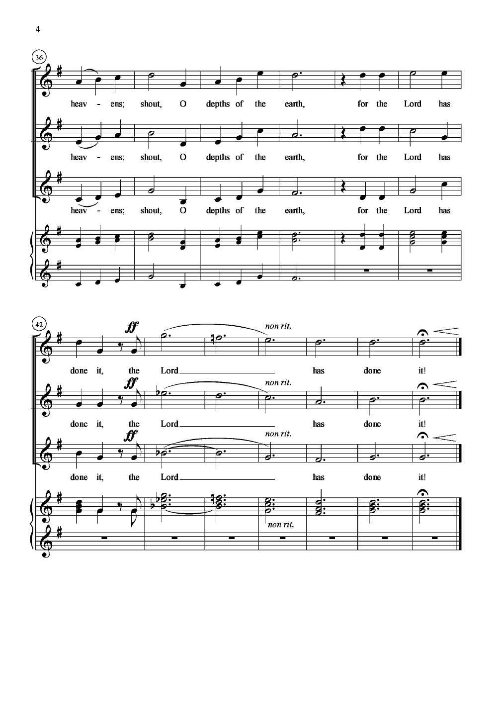 Sing, O Heavens Thumbnail