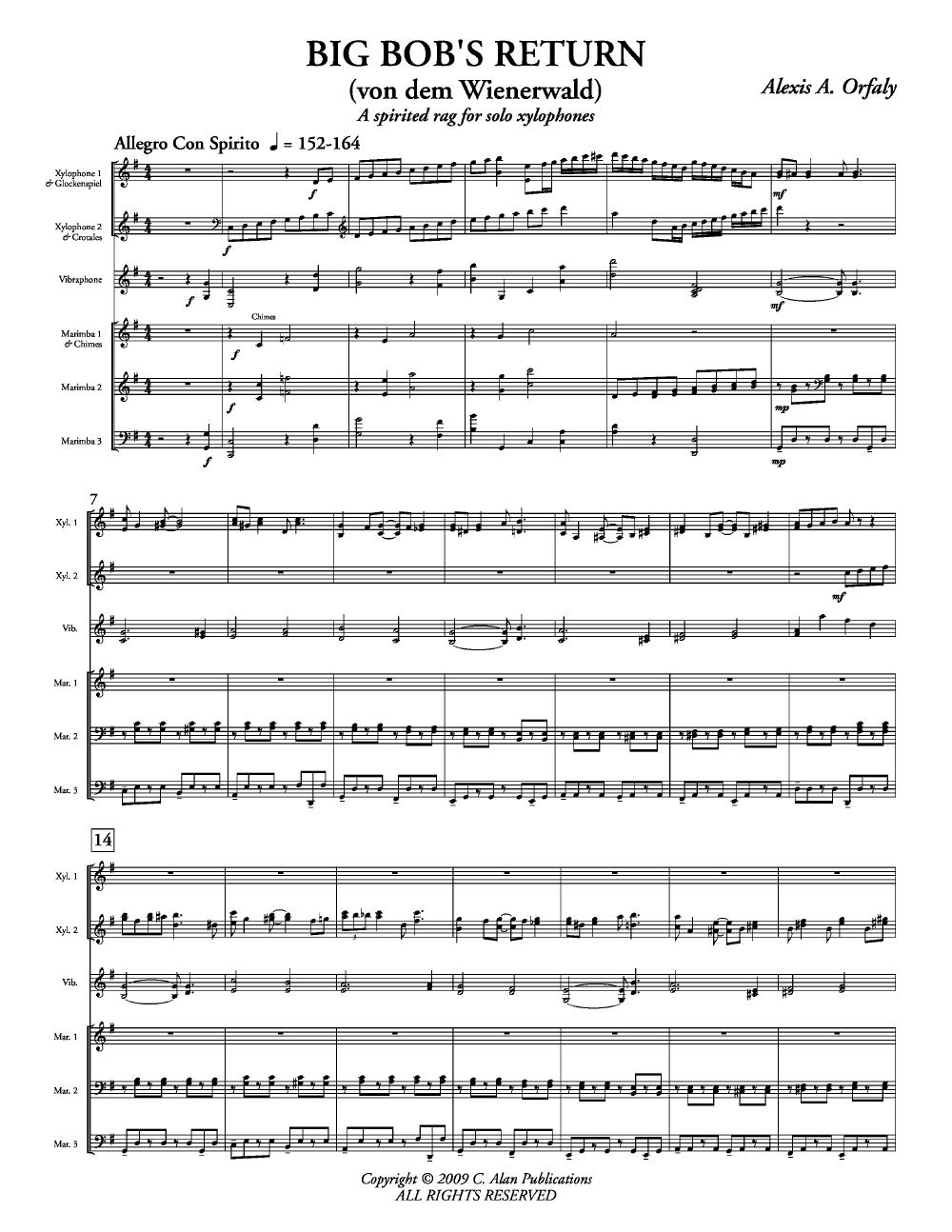 Big Bob's Return (Xylophone Duet with   J W  Pepper Sheet Music