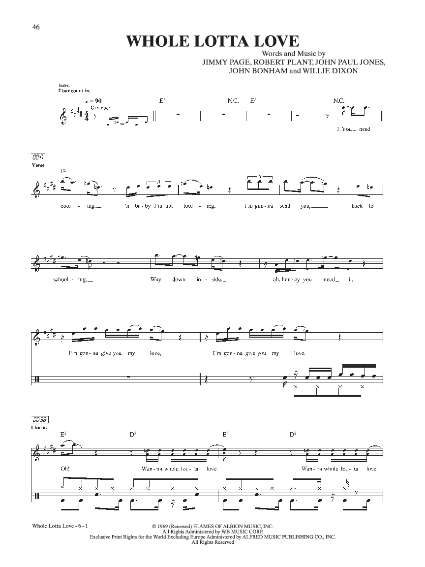 Ultimate Drum Play along Led Zeppelin #1 (Drum S   J W  Pepper Sheet
