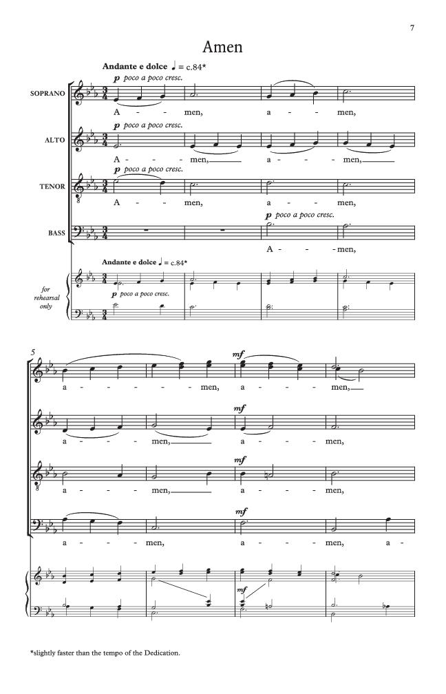 Dedication And An Amen Satb By John Rutt Jw Pepper Sheet Music