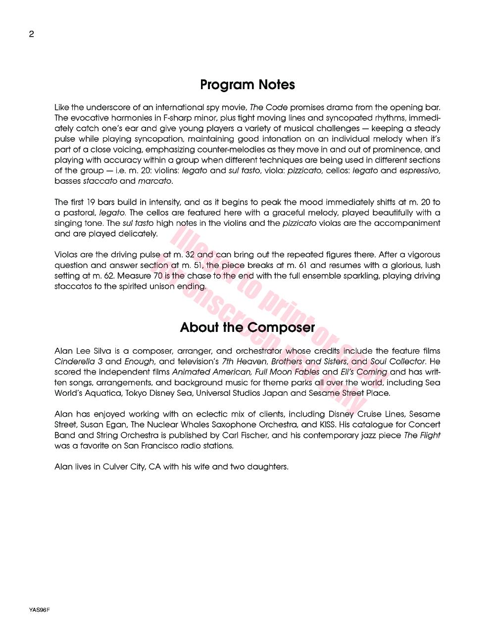 The Code by Alan Lee Silva| J W  Pepper Sheet Music