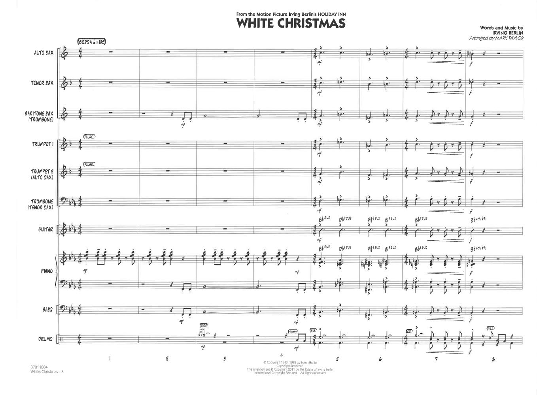 White Christmas by Irving Berlin/arr  Mark Taylor| J W  Pepper
