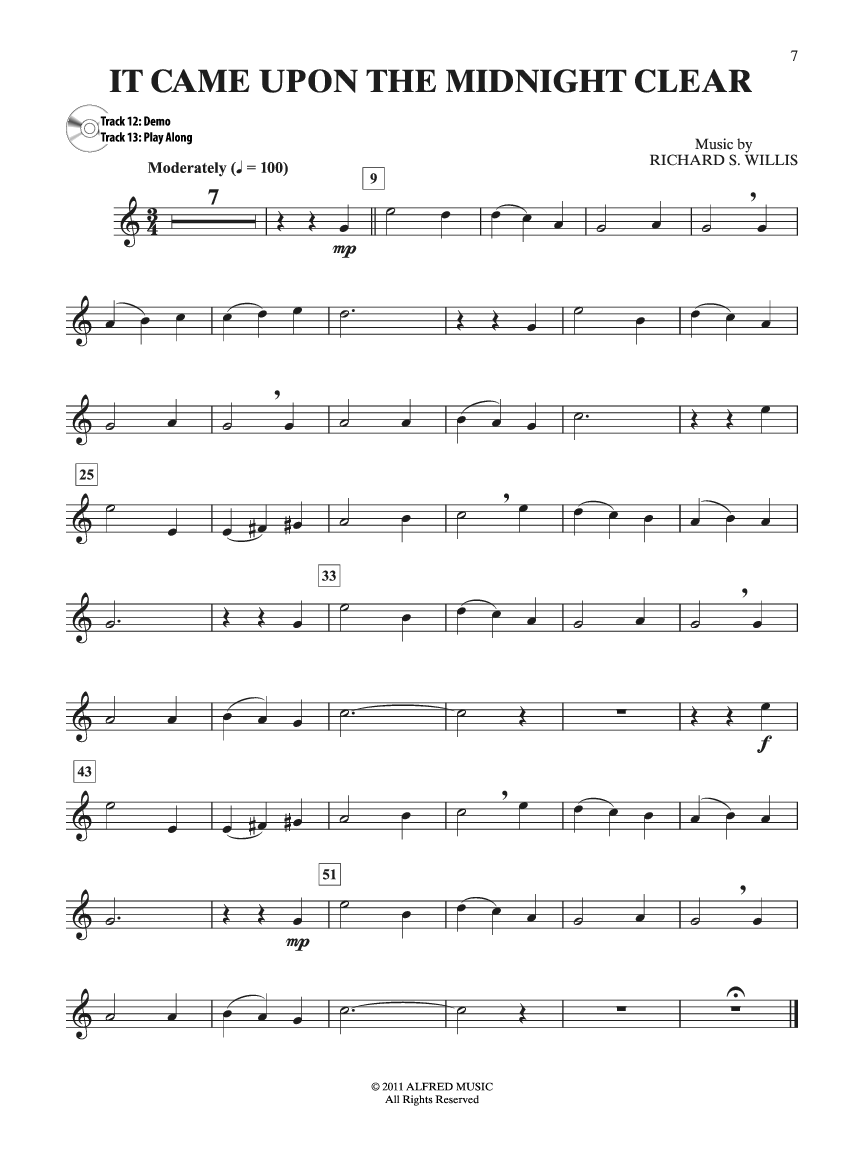 Easy Christmas Carols Instrumental Solos (Trumpe | J.W. Pepper Sheet Music