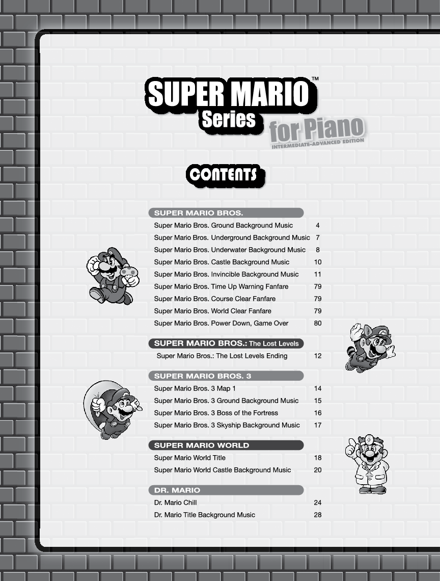 Super Mario Series (Moderate) by Koji Kondo, Shi | J W