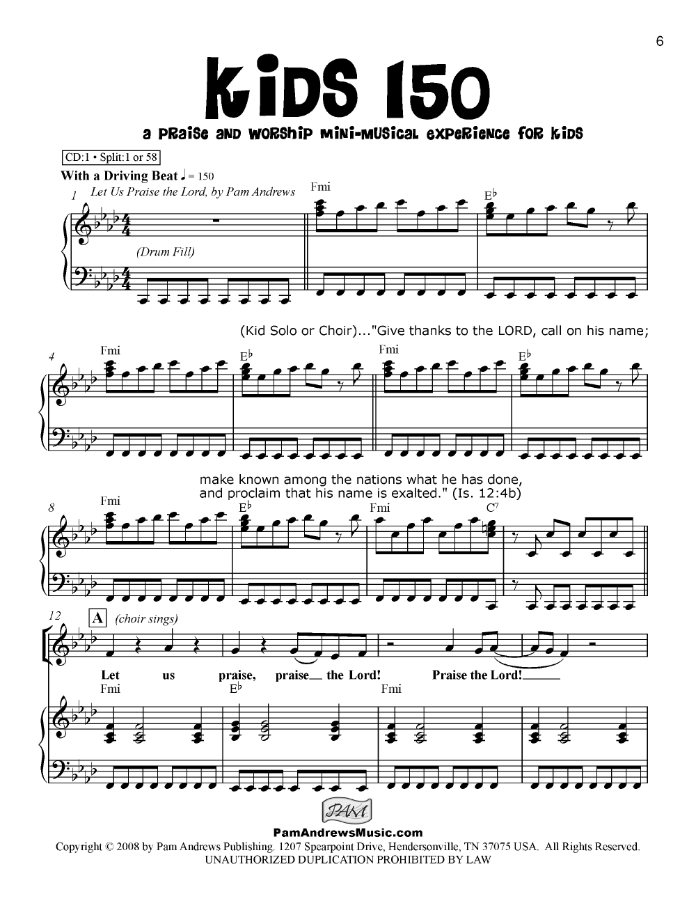 Kids 150 (Unison/Two-Part Singer's Edition&n | J W  Pepper Sheet Music