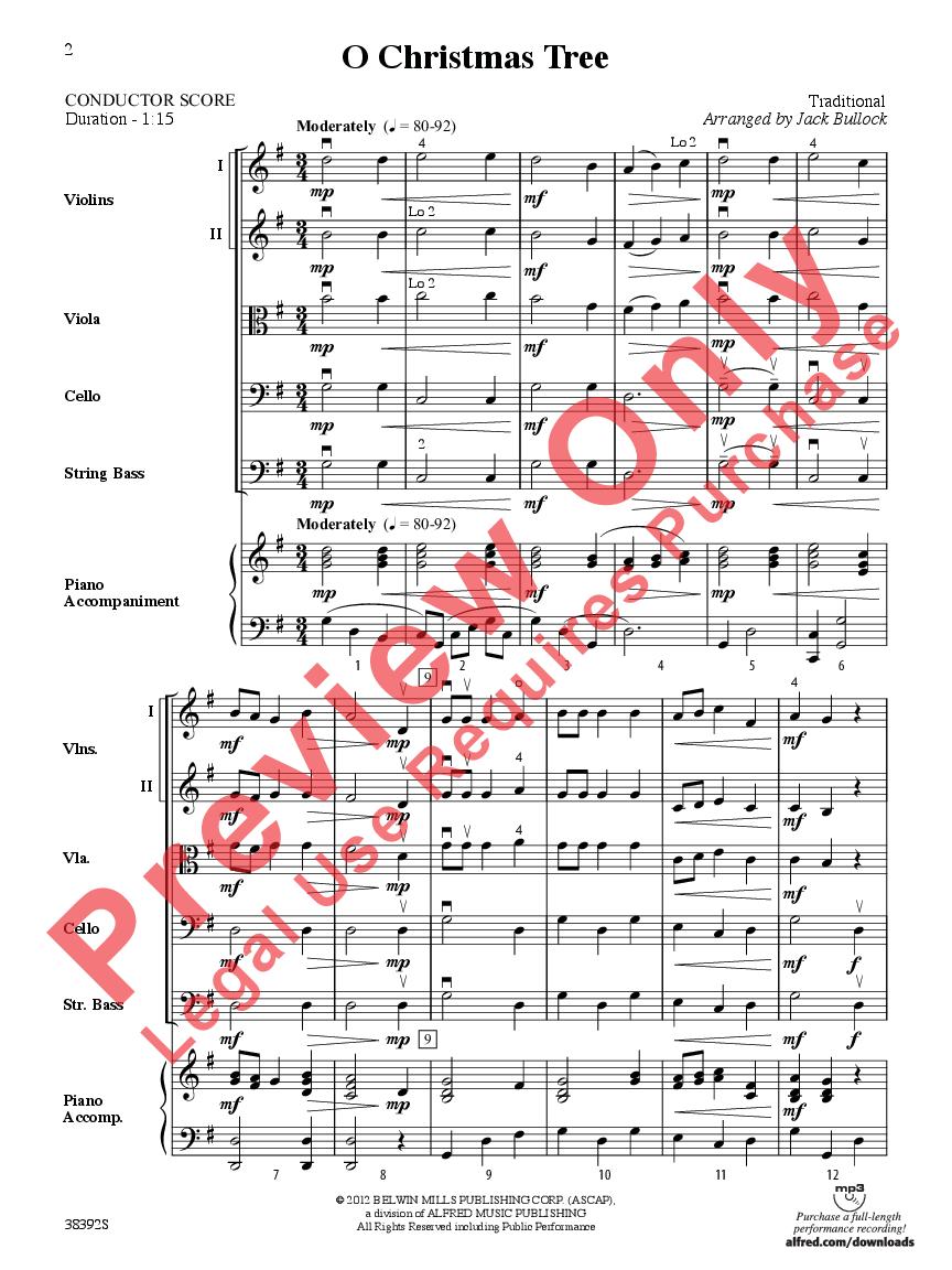 O Christmas Tree arr. Jack Bullock| J.W. Pepper Sheet Music
