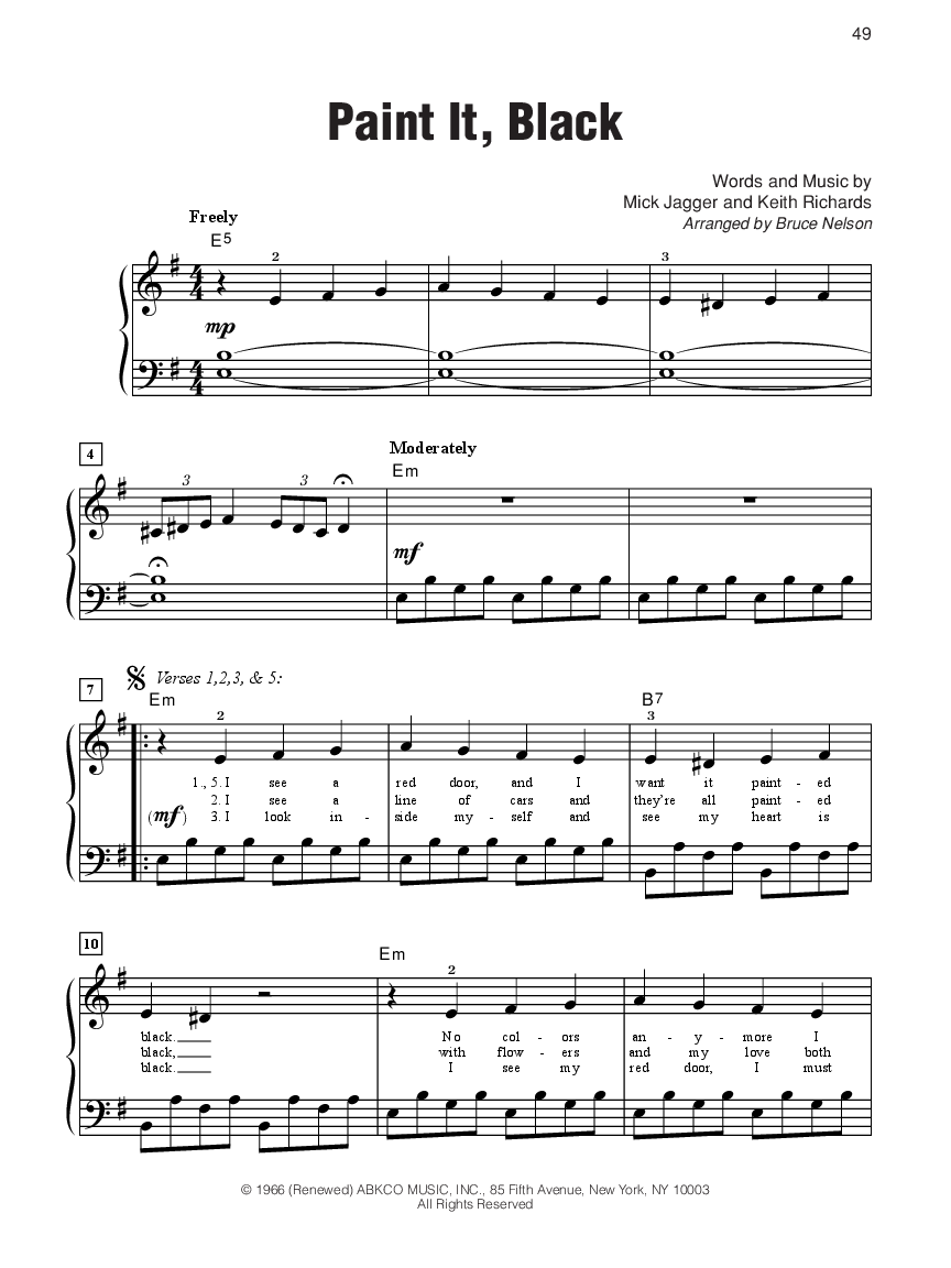 The Rolling Stones Sheet Music Anthology Thumbnail