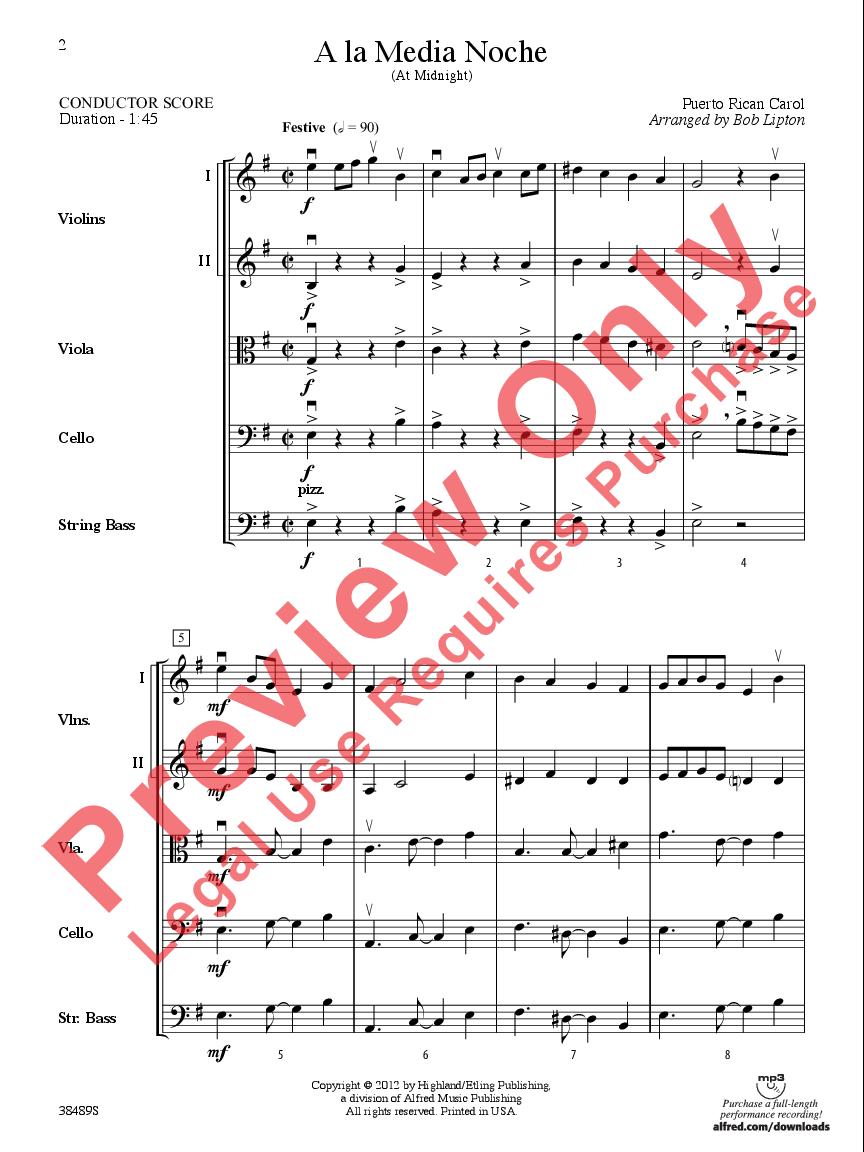 A la Media Noche arr  Bob Lipton| J W  Pepper Sheet Music