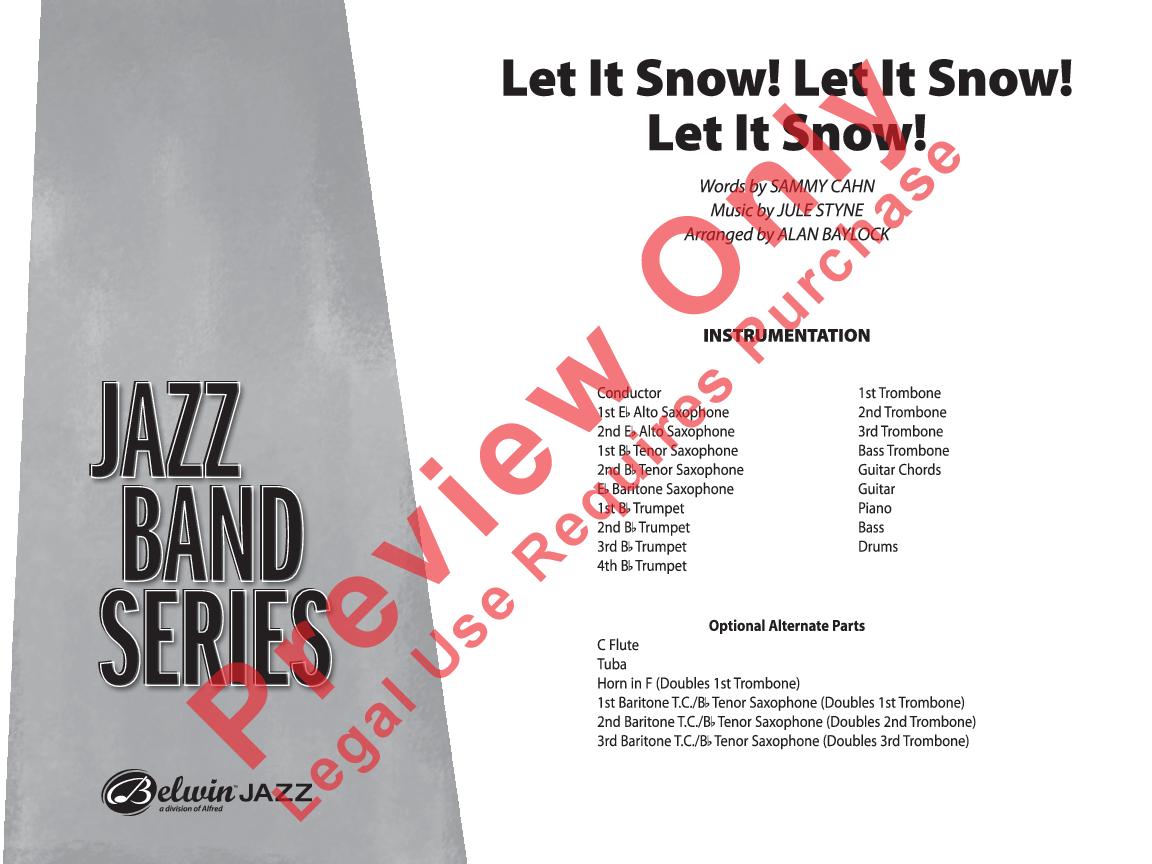 Let It Snow! Let It Snow! Let It Snow! by Jule S | J W  Pepper Sheet