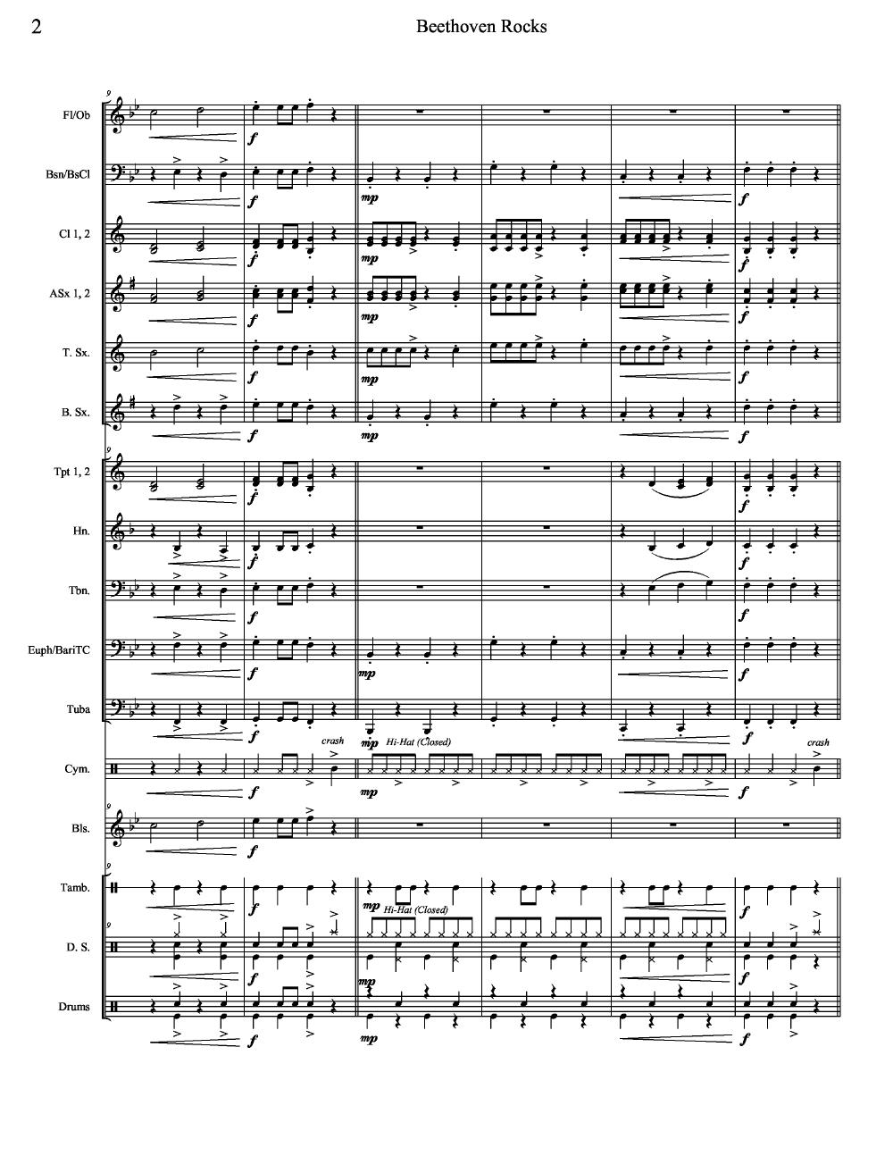 Beethoven Rocks by Ludwig van Beethoven/arr  Bob | J W