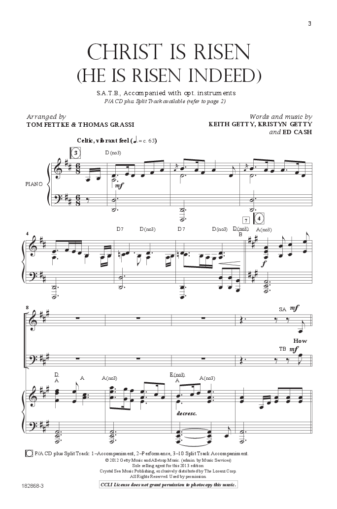 Christ Is Risen (SATB ) by Keith & Kristyn G | J W  Pepper Sheet Music