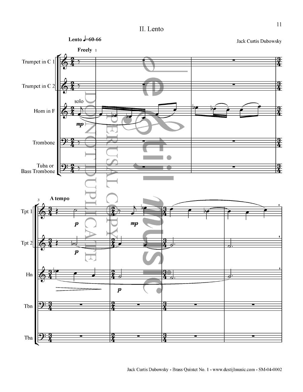 Brass Quintet No. 1 Thumbnail