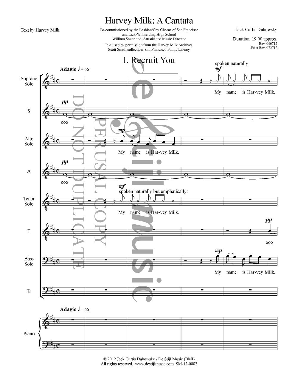 Harvey Milk: A Cantata Thumbnail