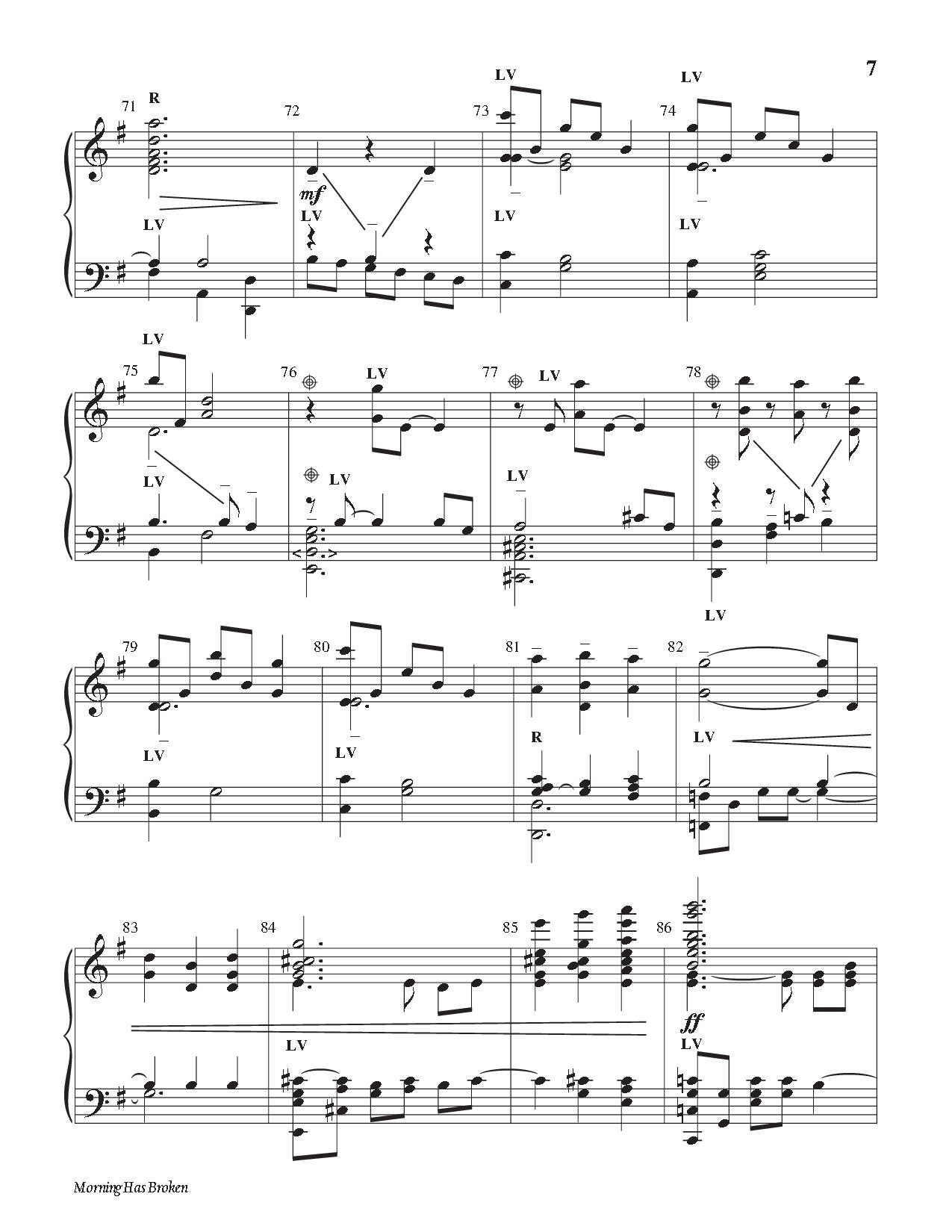 Morning Has Broken arr. Larry Shackley & Arnold | J.W. Pepper Sheet Music