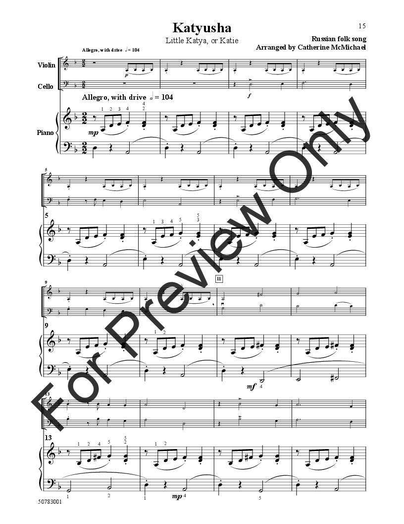 International Folk Songs (Piano Trio- Violin, Ce   J W  Pepper Sheet
