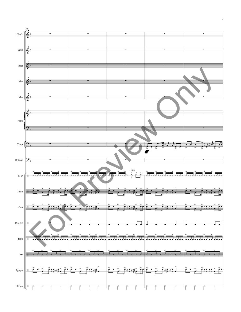 Island Jam #7 for Percussion Ensemble Thumbnail
