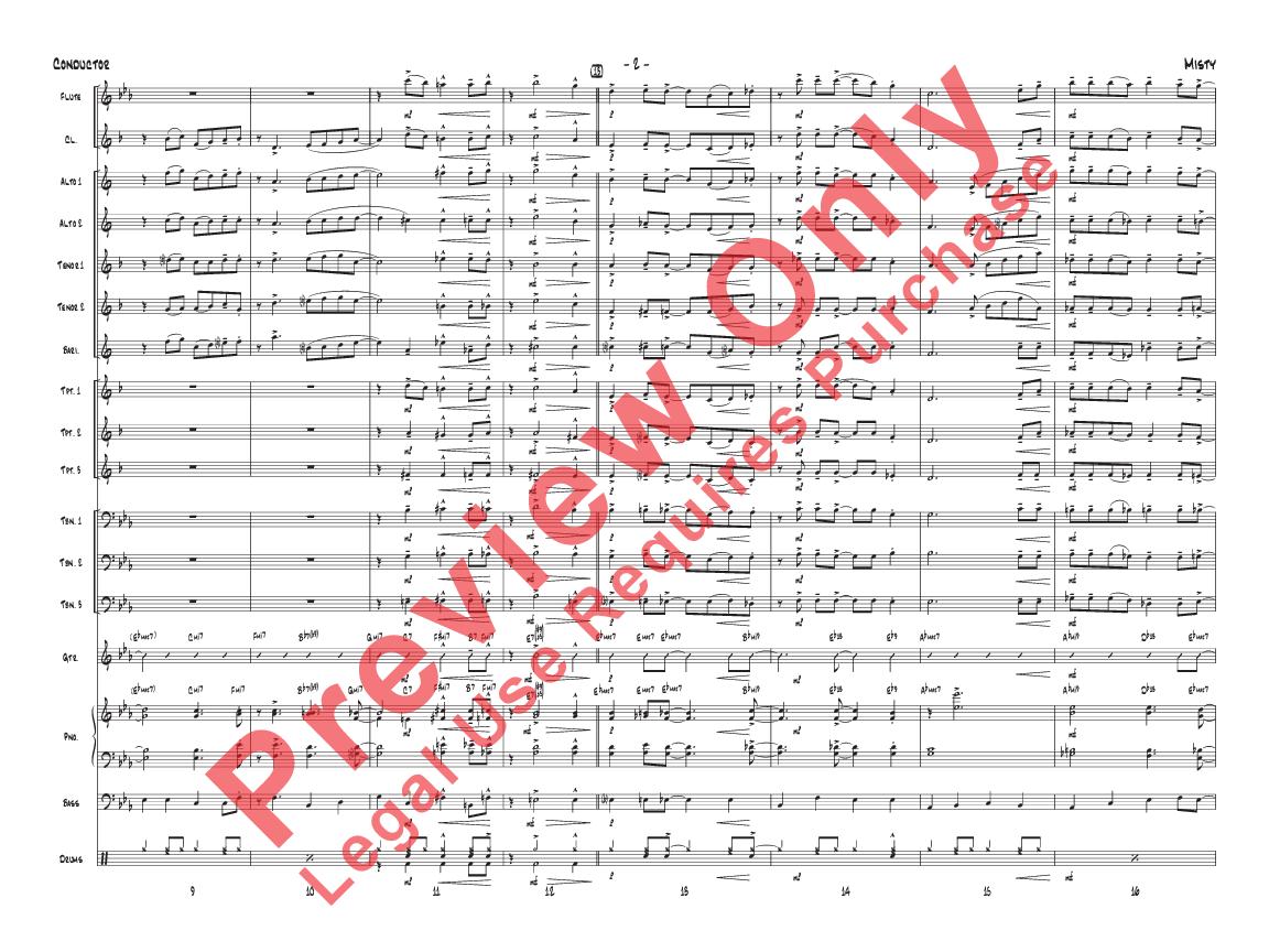 Misty by Erroll Garner/arr  Terry White| J W  Pepper Sheet Music