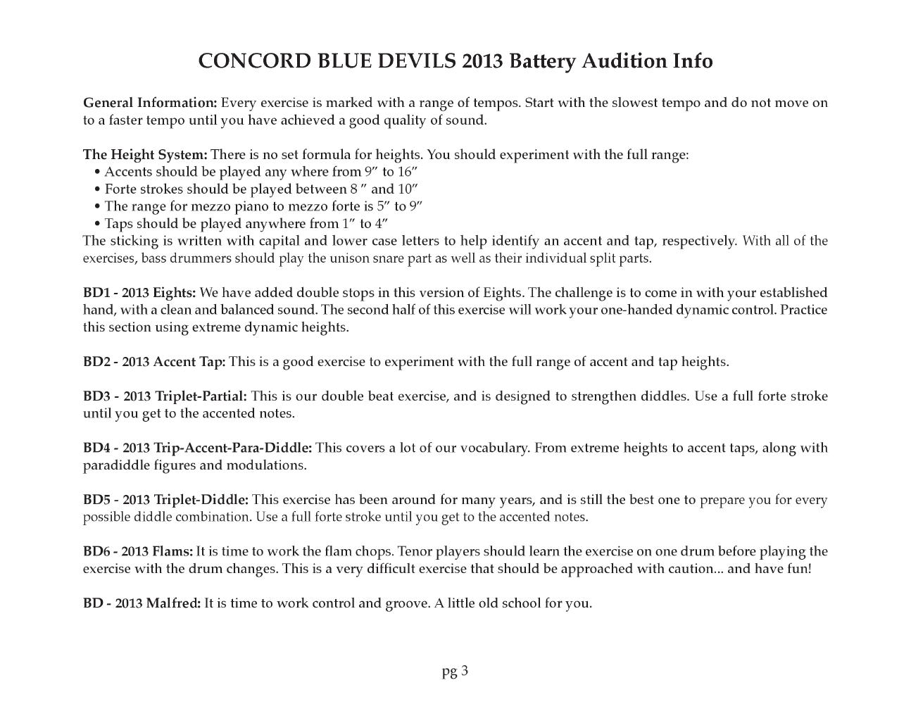 Blue Devils 2013 Audition Pack by Scott Johnson| J W  Pepper