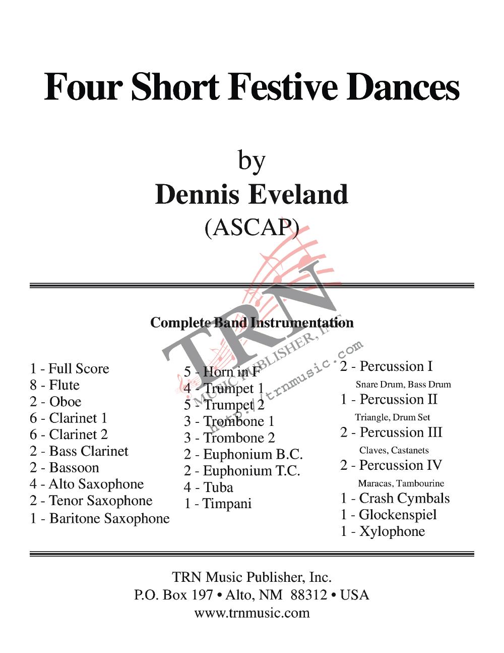 Four Short Festive Dances Thumbnail
