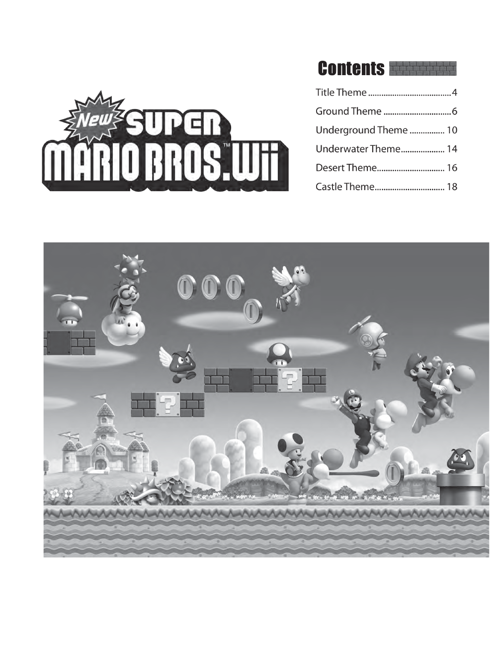 New Super Mario Bros Wii (Piano) by Koji Kondo, | J W