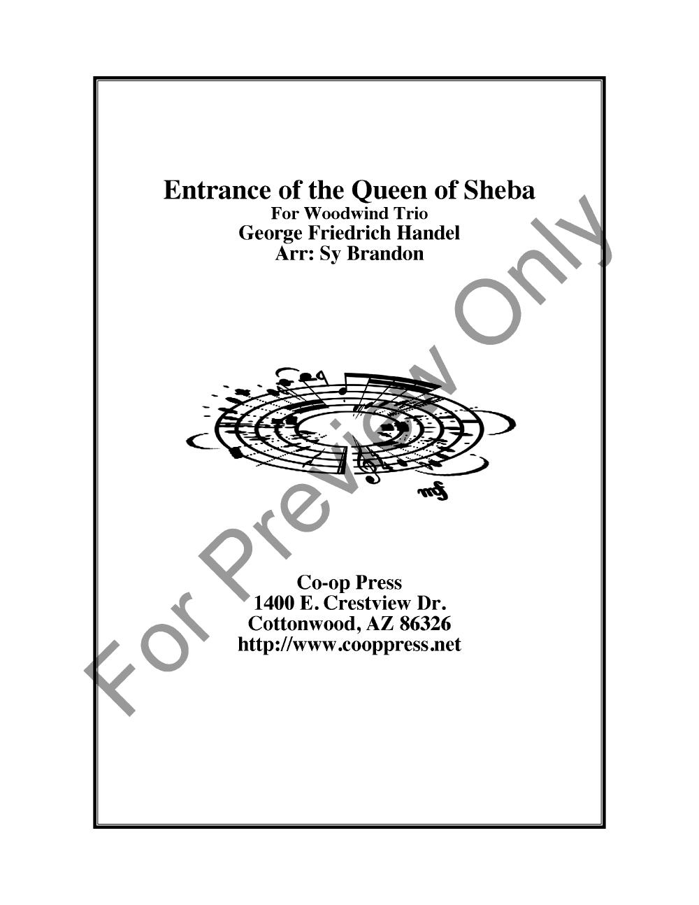 Entrance of the Queen of Sheba Thumbnail