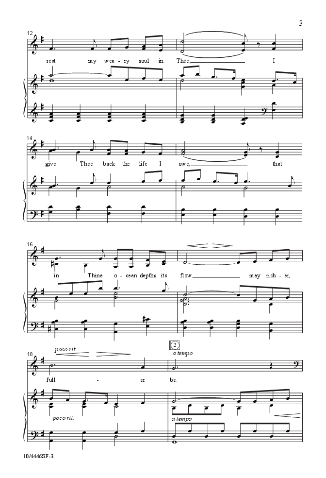 O Love That Will Not Let Me Go Satb By A Jw Pepper Sheet Music