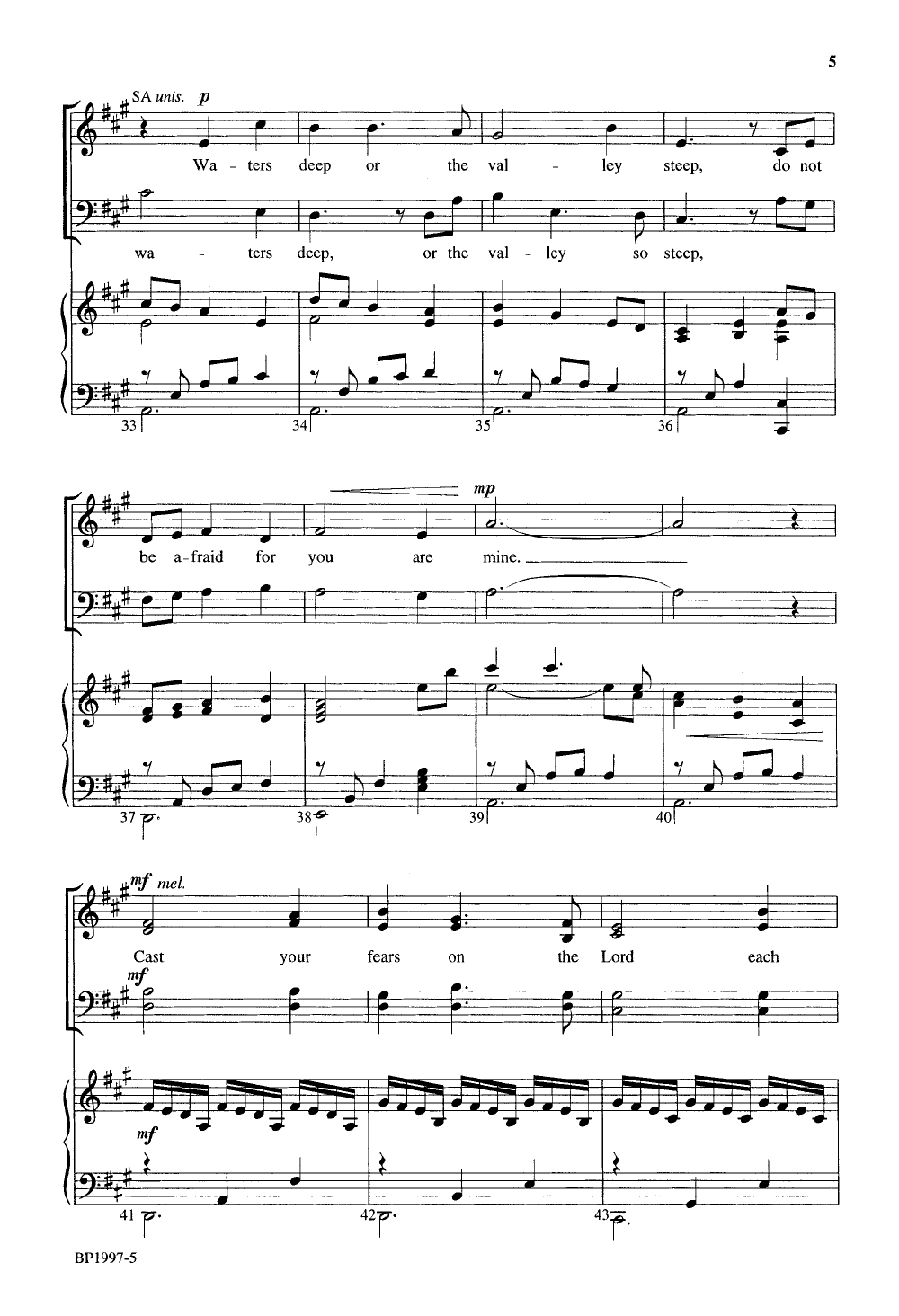Do Not Be Afraid for You Are Mine (SATB ) b | J W  Pepper