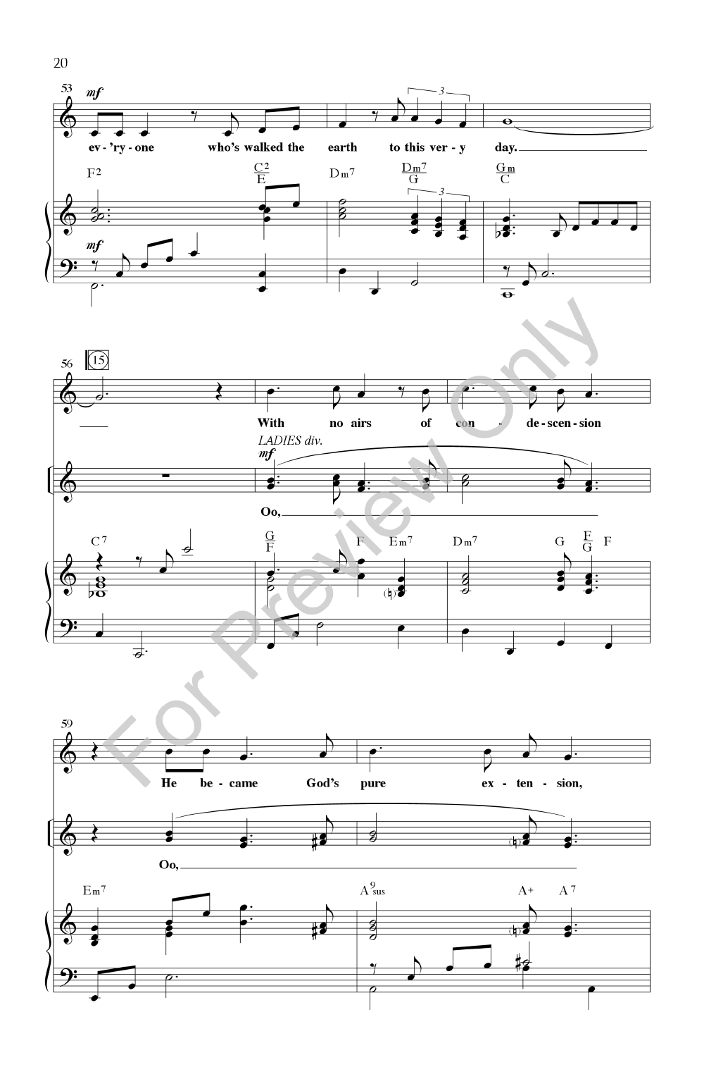 Glory in the Highest (SATB Singer's Edition | J W  Pepper