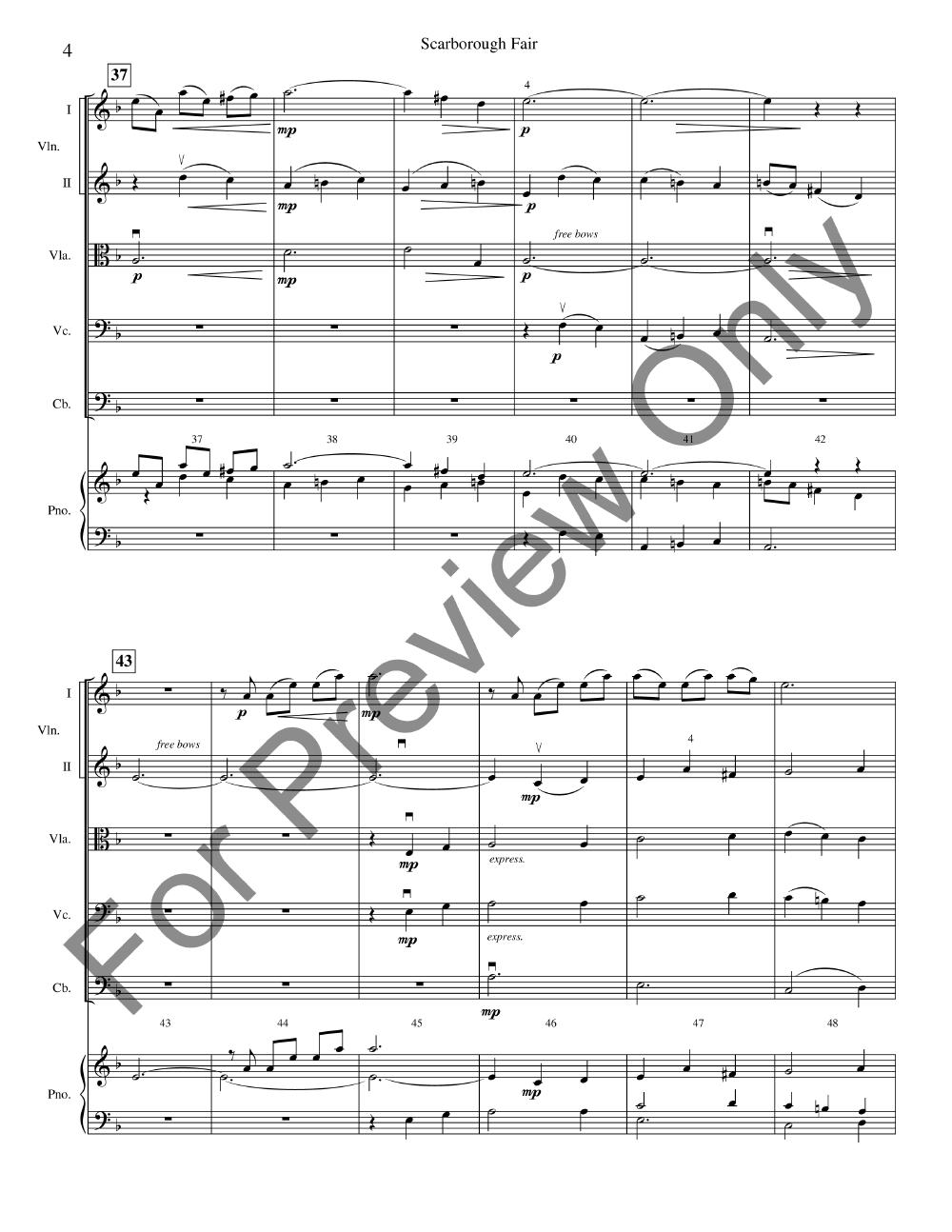 Scarborough Fair arr  Elliot Del Borgo| J W  Pepper Sheet Music