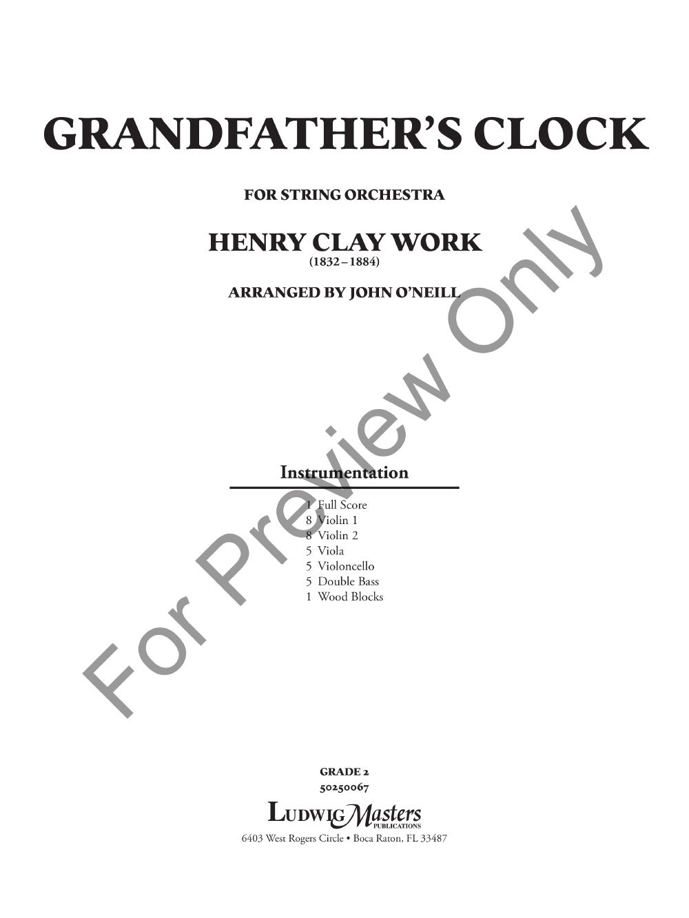 Grandfather's Clock Thumbnail