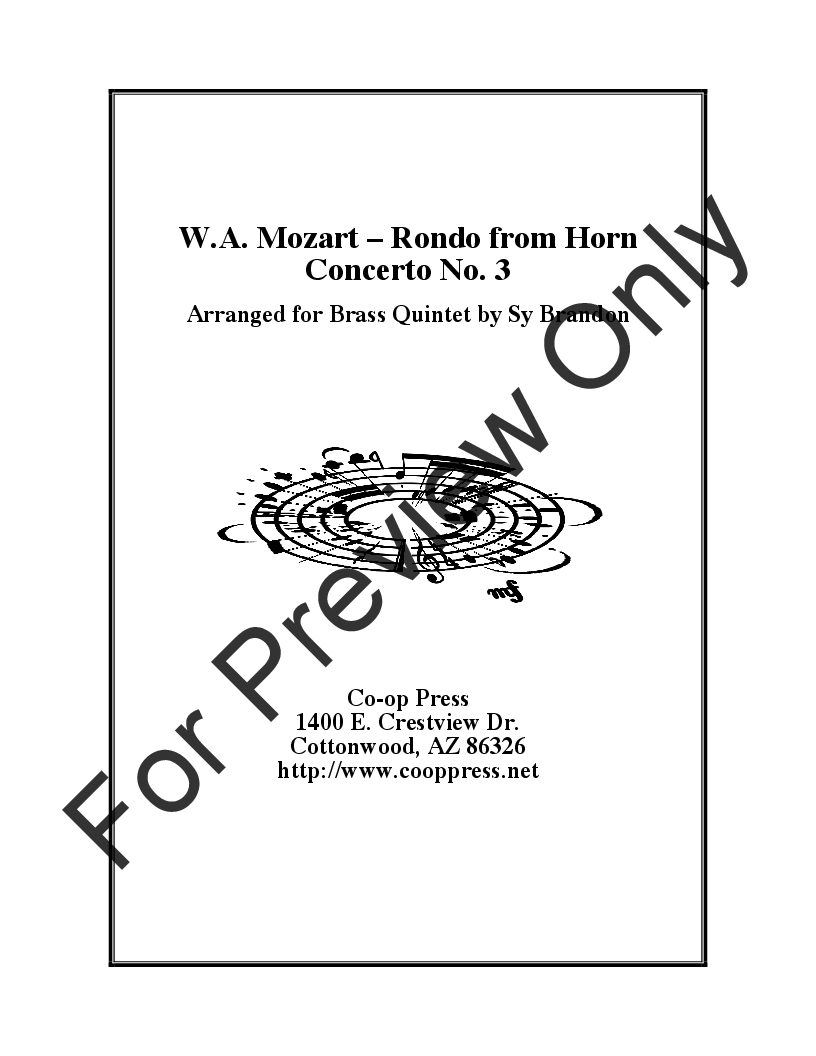 Rondo from Horn Concerto No. 3 Thumbnail