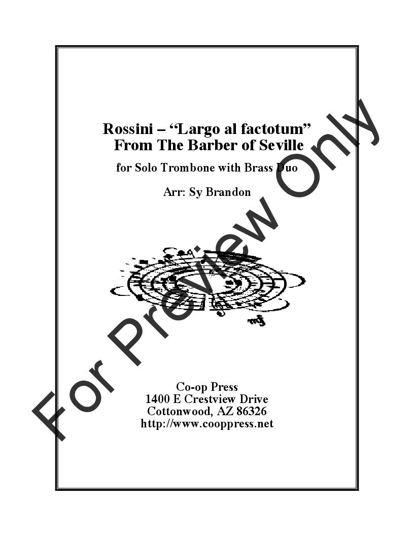 Largo al factotum from the Barber of Seville Thumbnail