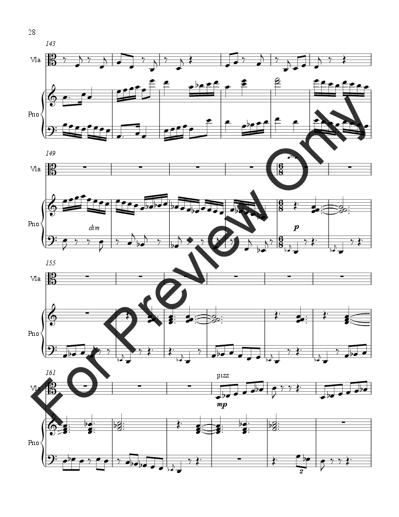 Sonata for Viola and Piano Thumbnail