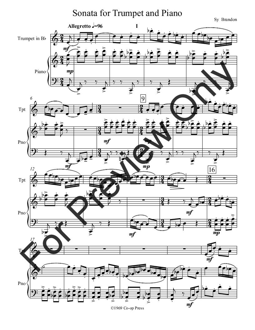 Sonata for Trumpet and Piano Thumbnail