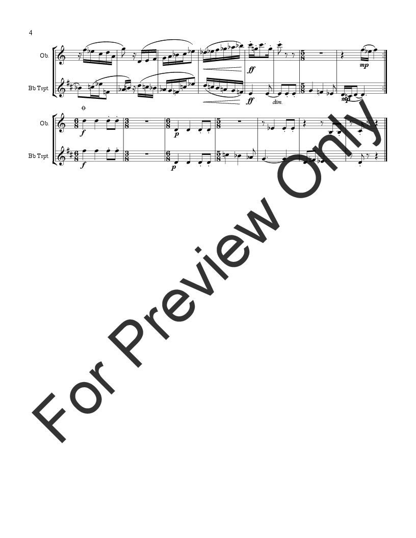 Sonatina for Oboe and Trumpet or Clarinet Thumbnail