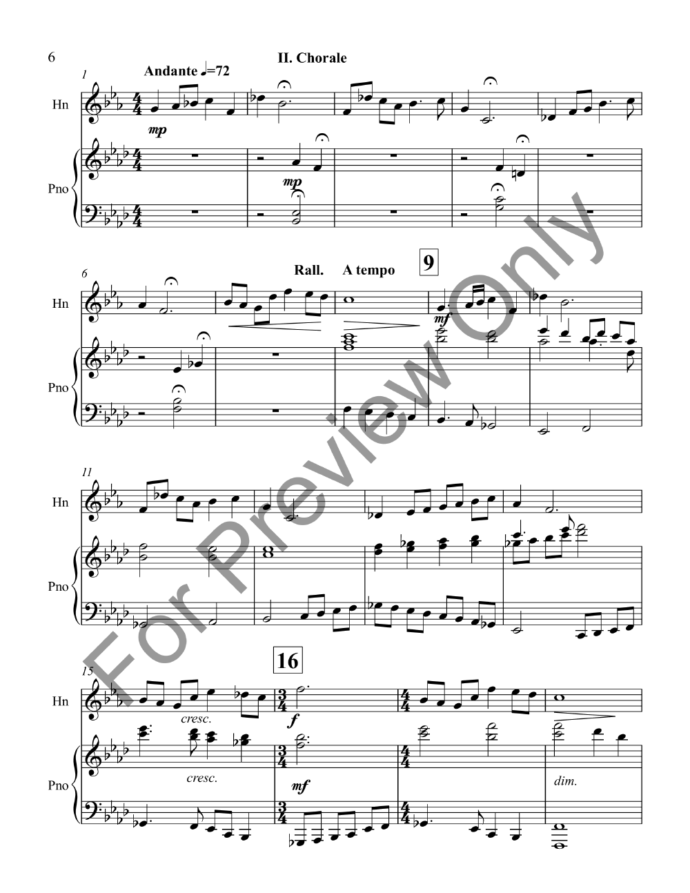 Suite for Horn and Piano Thumbnail