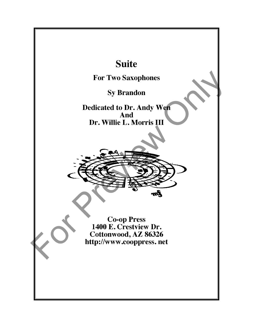 Suite for Two Saxophones Thumbnail