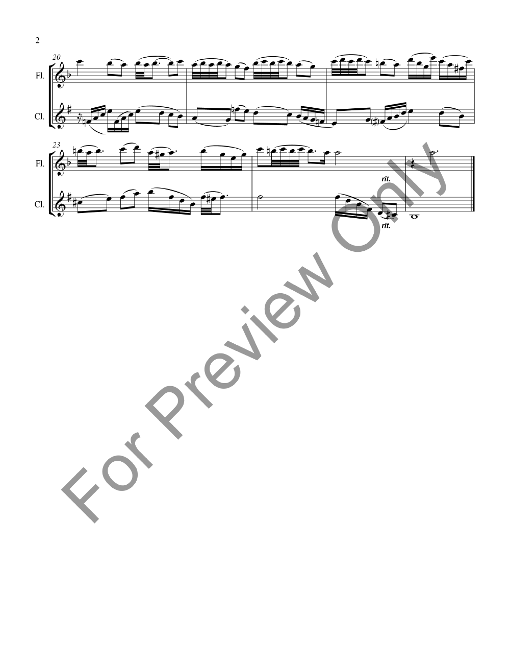Suite for Flute and Clarinet Thumbnail