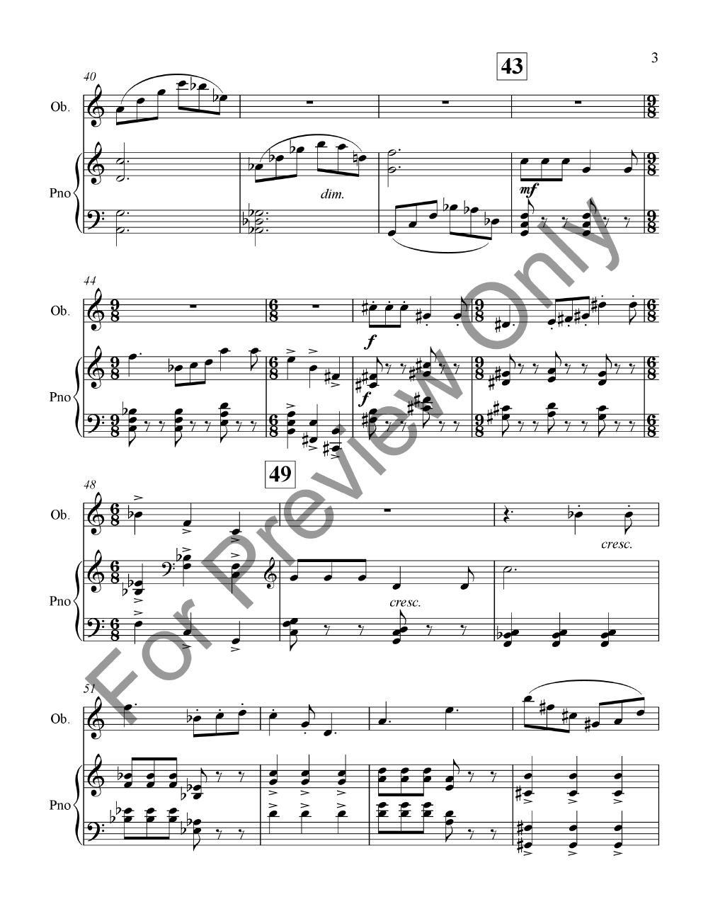 Suite for Oboe and Piano Thumbnail