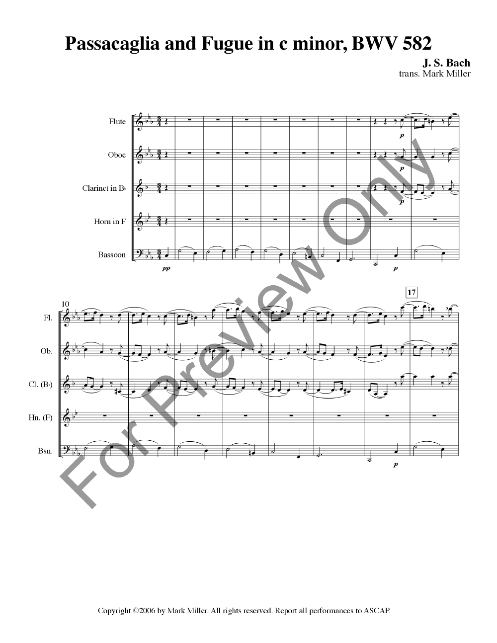 Passacaglia and Fugue in c minor BWV 582 Thumbnail