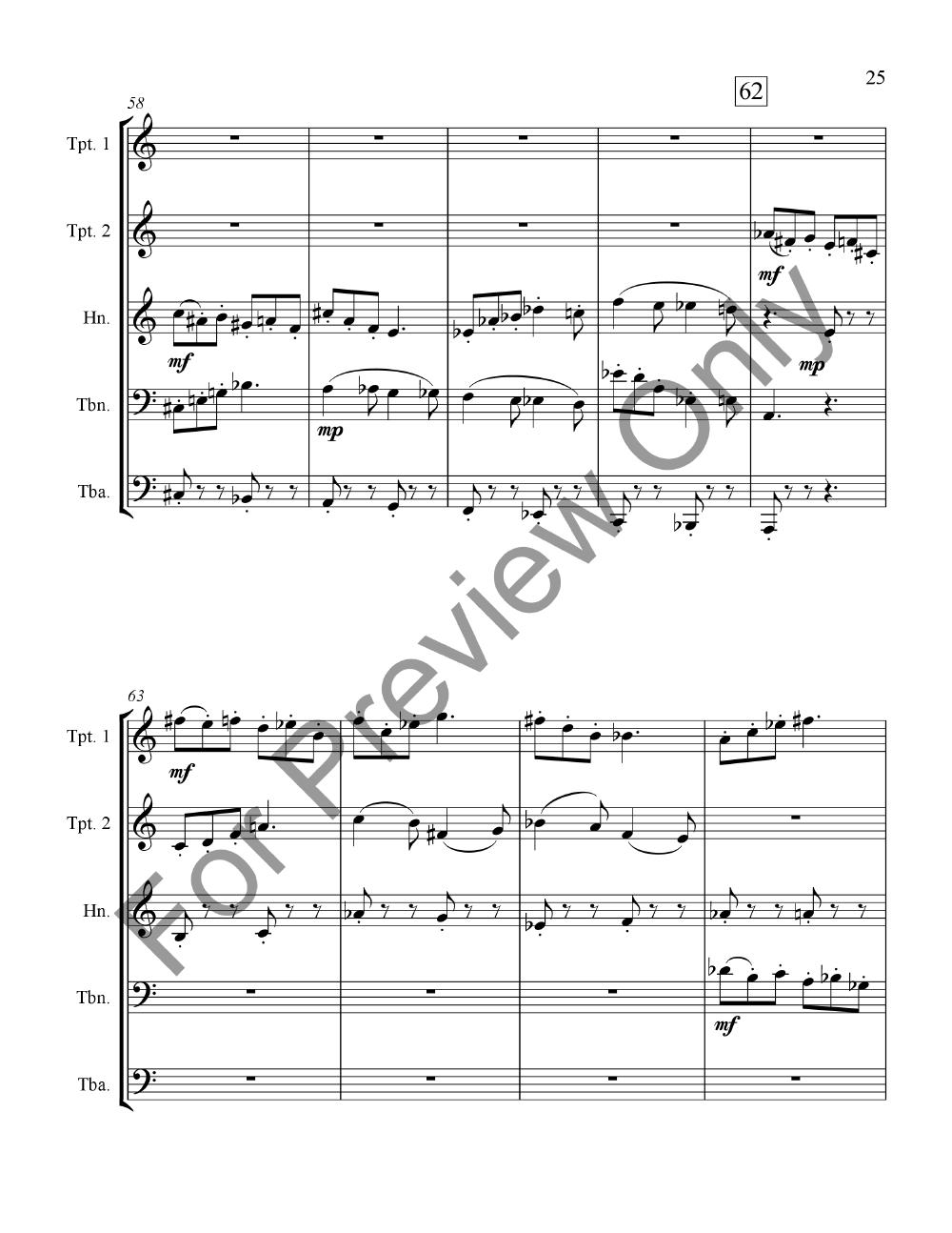 Three Moods for Brass Quintet Thumbnail