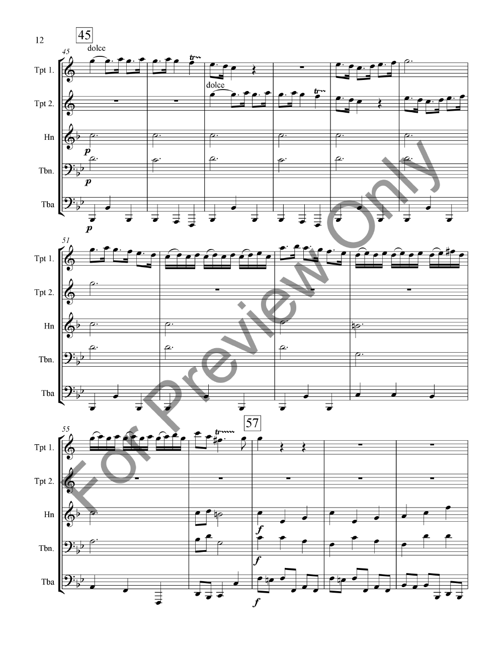 Concerto for Two Trumpets Thumbnail