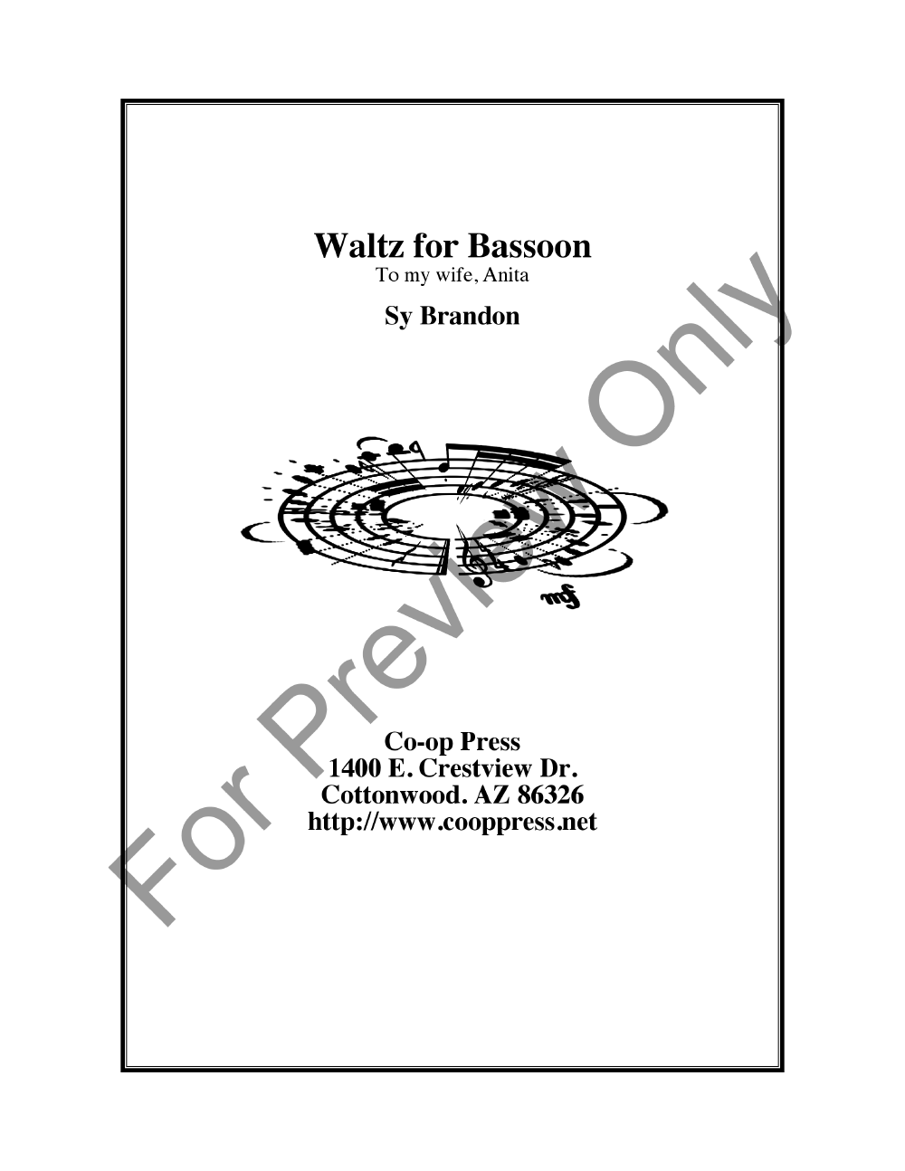 Waltz for Bassoon Thumbnail