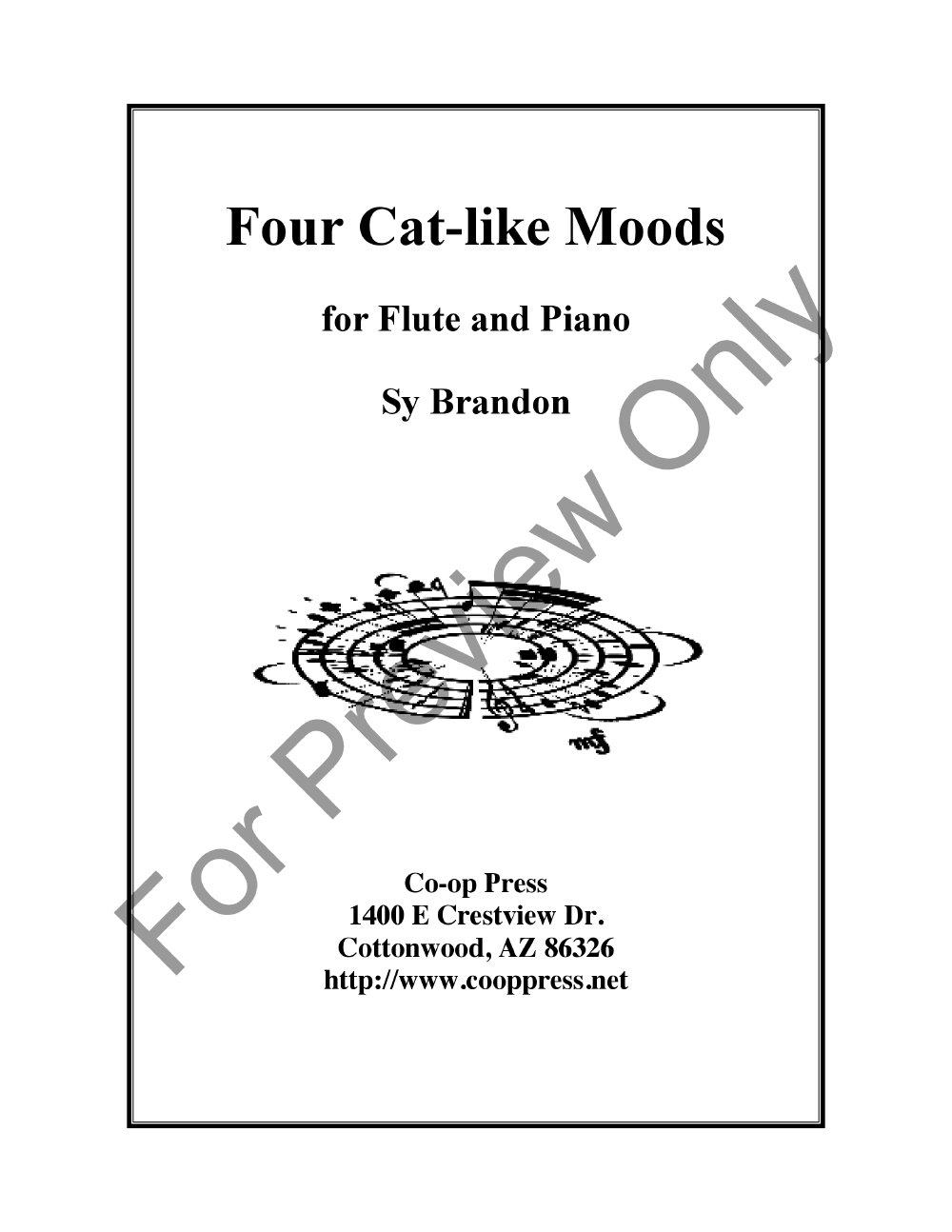 Four Cat-like Moods for Flute and Piano Thumbnail